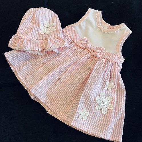 Daisy Candy Stripe Dress + Hat