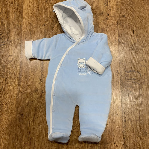 Blue Velour All in One