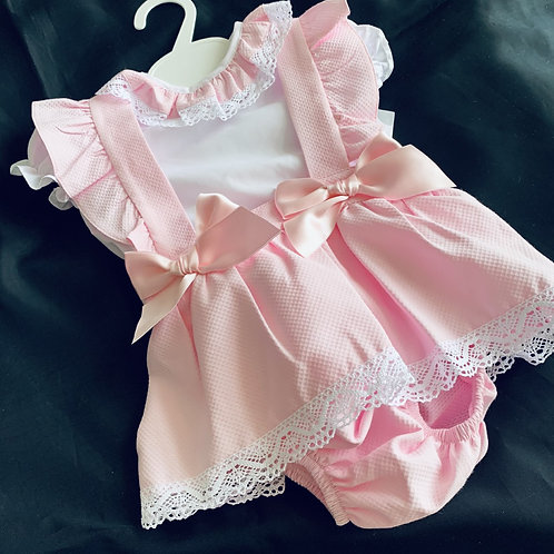 Pink Two Bow Set