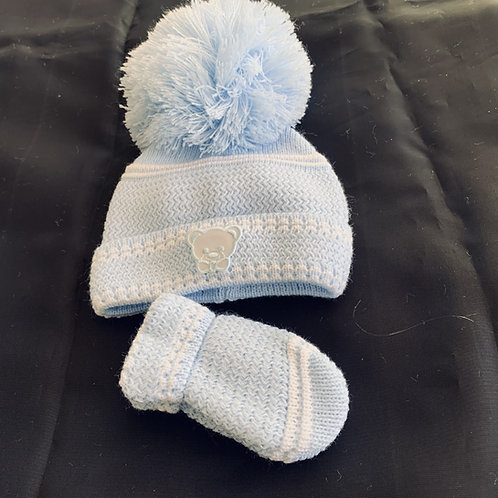Newborn Hat and Mitt Set