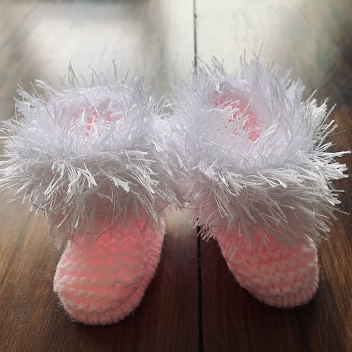 Softest Snowflake Bootees
