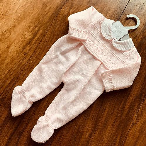 Girls' Pink Knitted ONESIE