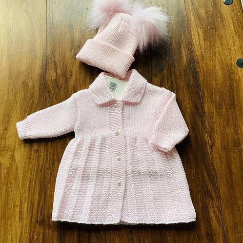 Beautiful Portugese Baby Coat + Hat Set