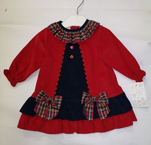 Mock Cardigan Dress