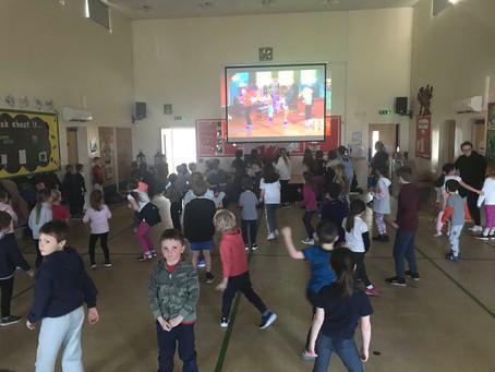 Sports Relief at Llangan Primary School