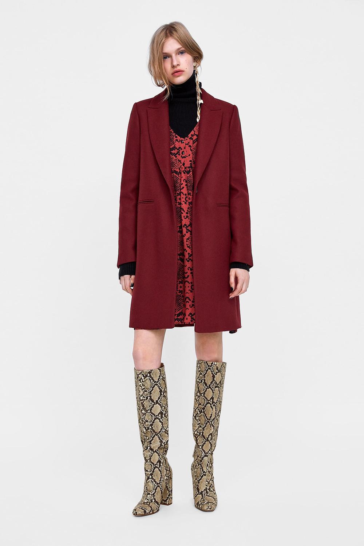 Zara abrigo de corte masculino