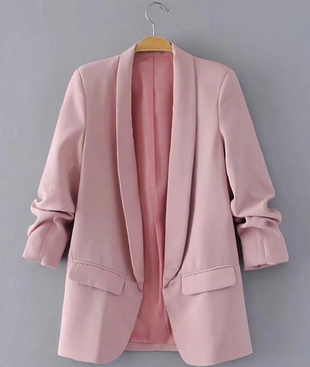 Blazer Shein color rosa pálido