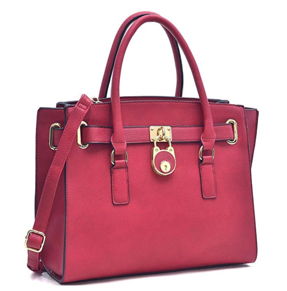 bolsa grande bolso candado Satchel Bolso de mano portafolios