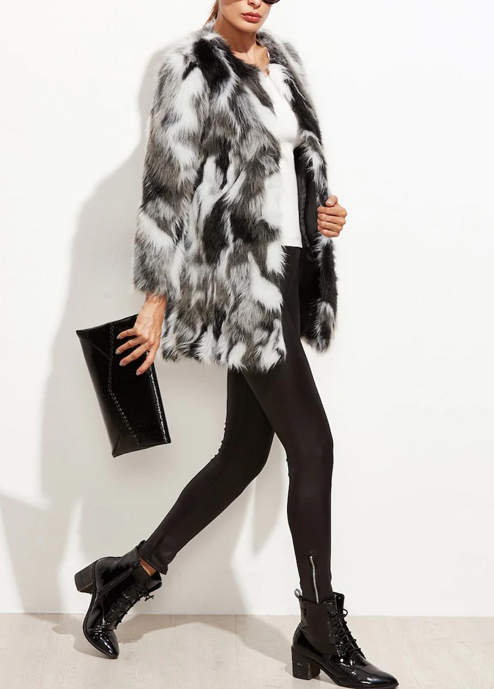 Abrigo Shein Faux Fur