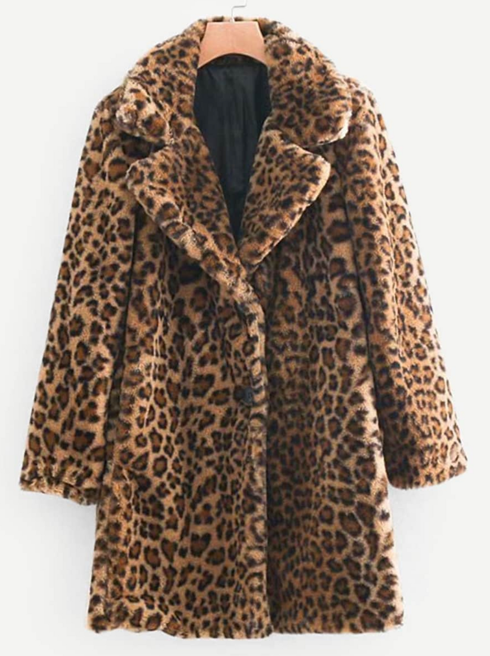 Abrigo Shein Animal Print Leopardo