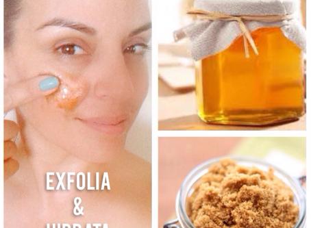 Exfolia e hidrata tu piel con Miel de Abeja y Azúcar