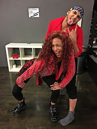 Natalie La Rose: The Right Song Music Video Rehersals