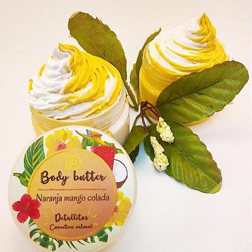 Body butter cream naranja mango colada