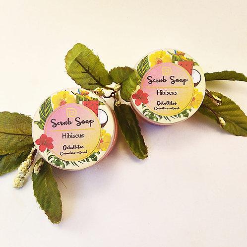 Scrub soap Hibiscus (flores de Jamaica)