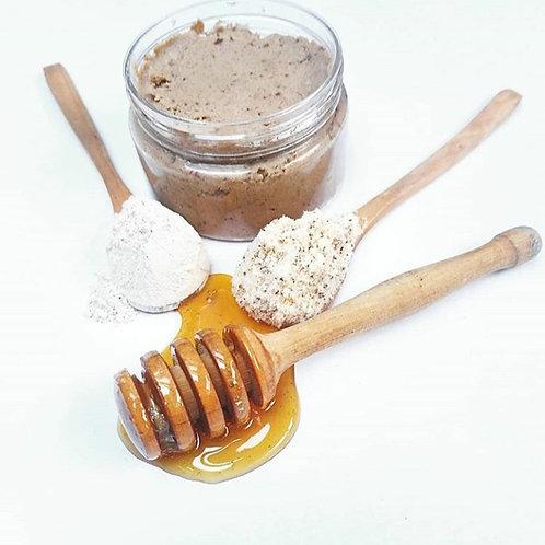 Scrub almendra arcilla y miel
