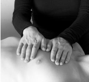 Reiki hand position: heart