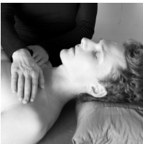 Reiki hand positions: upper lungs