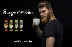 Suppe statt Kaffee.