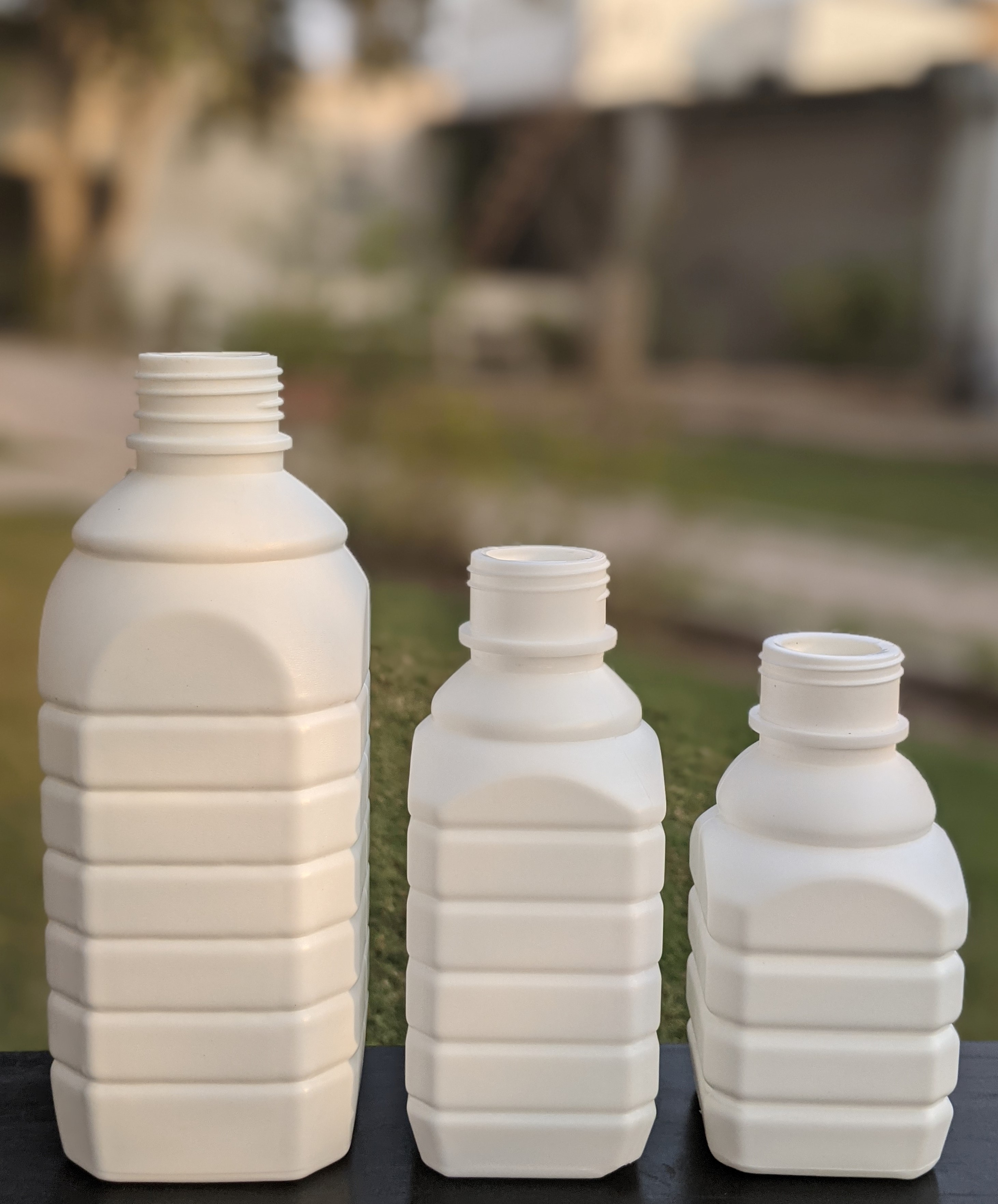 square shaped bottle