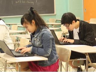 華府中文學校於漢字文化節舉辦全校「認字比賽」「 查字典比賽」 「打字比賽」