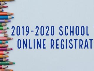 2019-2020學年度的線上註冊開始 Online Registration for 2019-2020