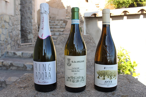 White and Sparkling - Italian Favorites Known and New - six bottles