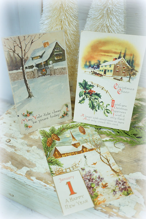 Antique Postcards Set of 3