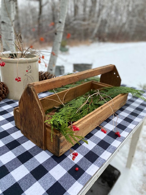 Rustic Wood Carry Box