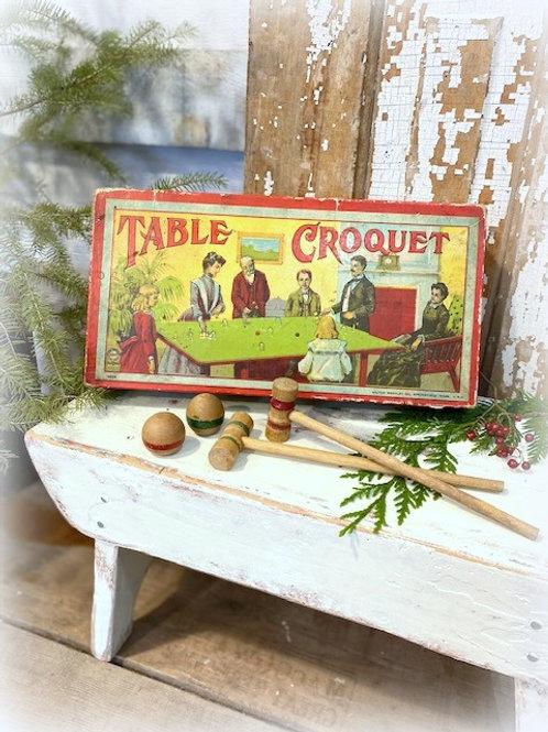 Antique Table Croquet