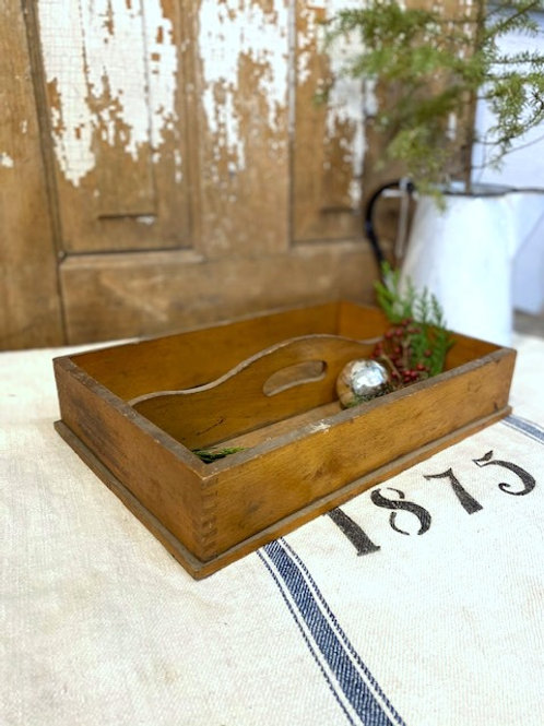 Old Wood Cutlery Box