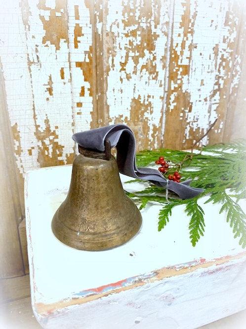 Antique Brass Sleigh Bell