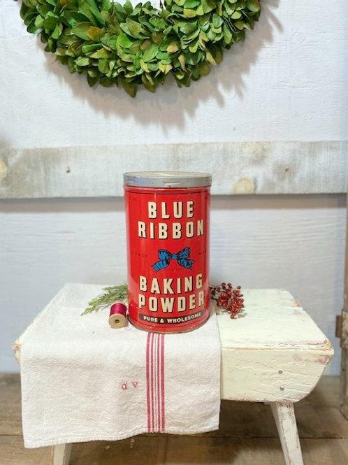 Early Large Size Blue Ribbon Tin