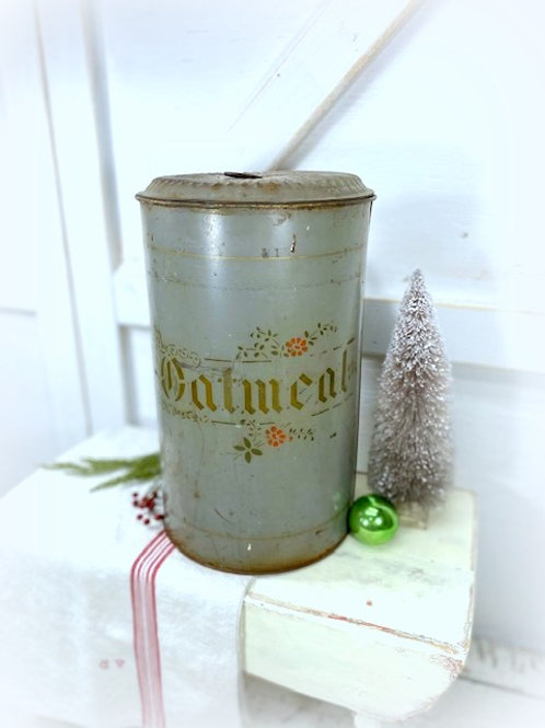 Early Antique Large Oatmeal Tin
