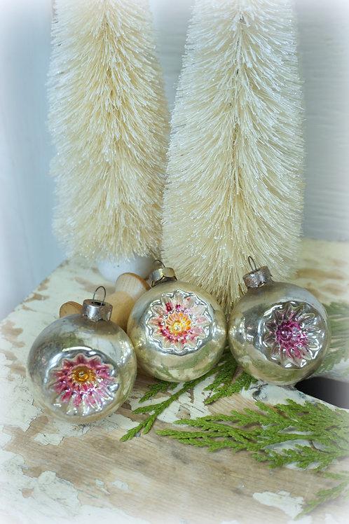 Mercury Glass Ornament Set 3