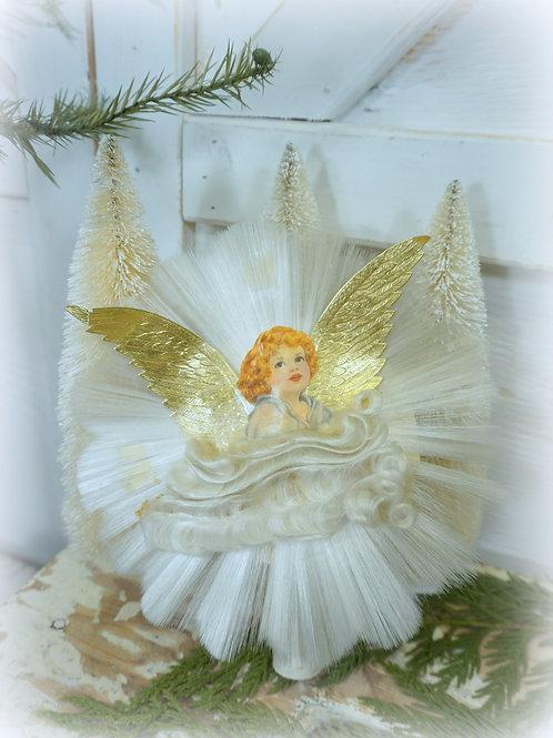 Spun Glass Angel Tree Topper