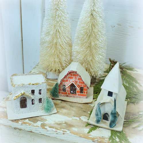 Putz Cardboard Holiday Village