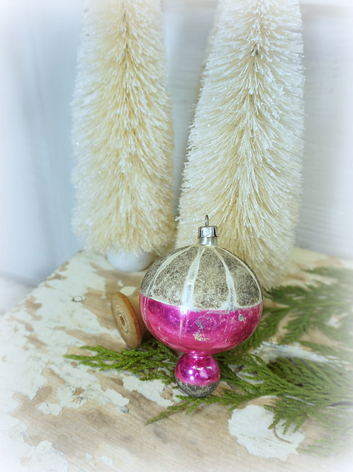 Pink and Silver Mica Ornament