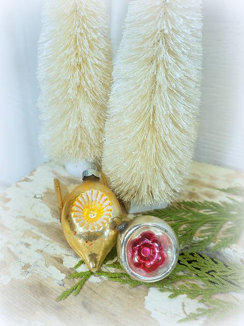 Mercury Glass Ornament Set 2