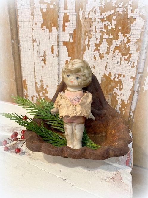 Antique Frozen Charlotte Bisque Doll