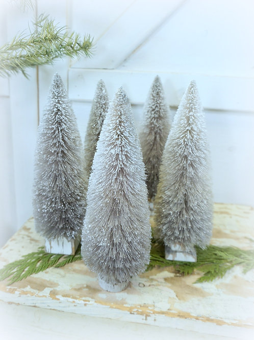 Frosted French Gray Hand Dyed Trees