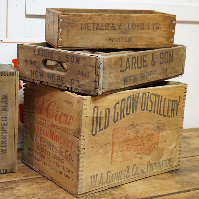 Collection of crates