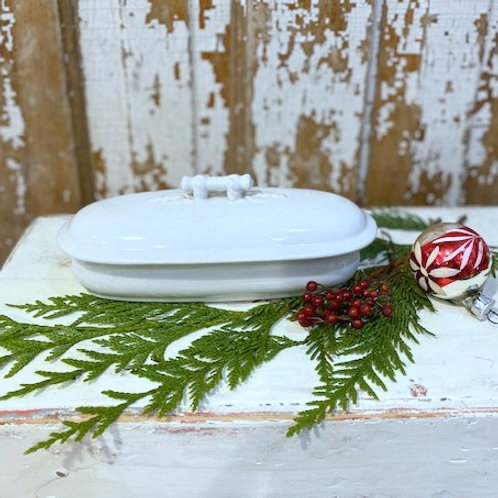 Antique Ironstone Small Covered Dish