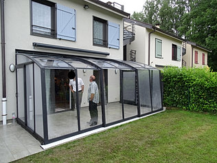 veranda abris terrasse fixe coulissant veauche 42 abris de charme. Black Bedroom Furniture Sets. Home Design Ideas