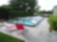 abris de piscine bas
