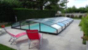 Abris de piscine Bas Coulissant en aluminium Thermolaqué