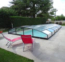 Anris de piscine bas coulissant sans rail