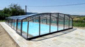 Abris de piscine Mi Haut Coulissant en aluminium Thermolaqué