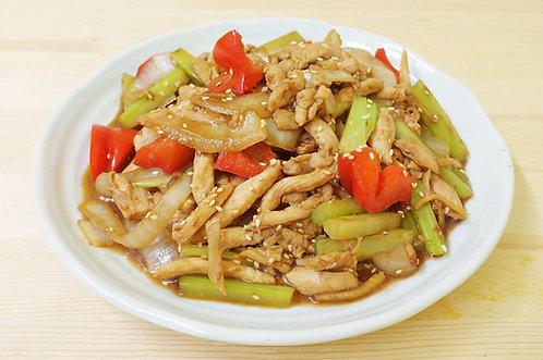 鮮蔬炒雞柳