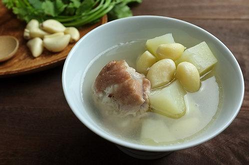 蒜頭青木瓜排骨湯