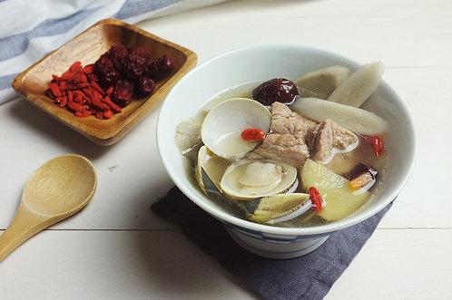 牛蒡蛤蠣玉排湯